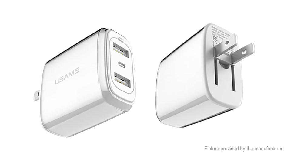 USAMS US-CC004 Dual USB Charger Power Adapter