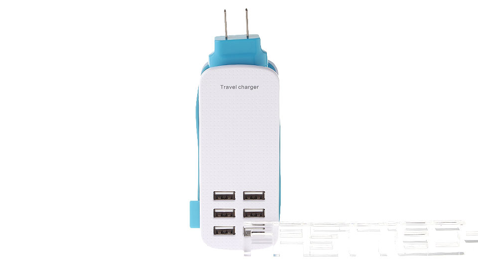 6-Port USB AC Travel Charger Power Adapter