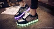 Buy Wind Breaker Unisex LED Light Lace Low Top Shoes Sneakers (Size 41/Pair) Size 41, Black (Low Top)