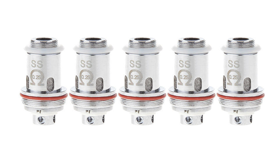 Image of Authentic Kangside KSD DK 22 Clearomizer Replacement Stainless Steel Coil Head (5-Pack)