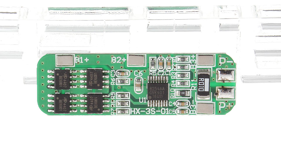 Image of 12.6V Four MOS DIY 3*18650 Batteries Protection Board