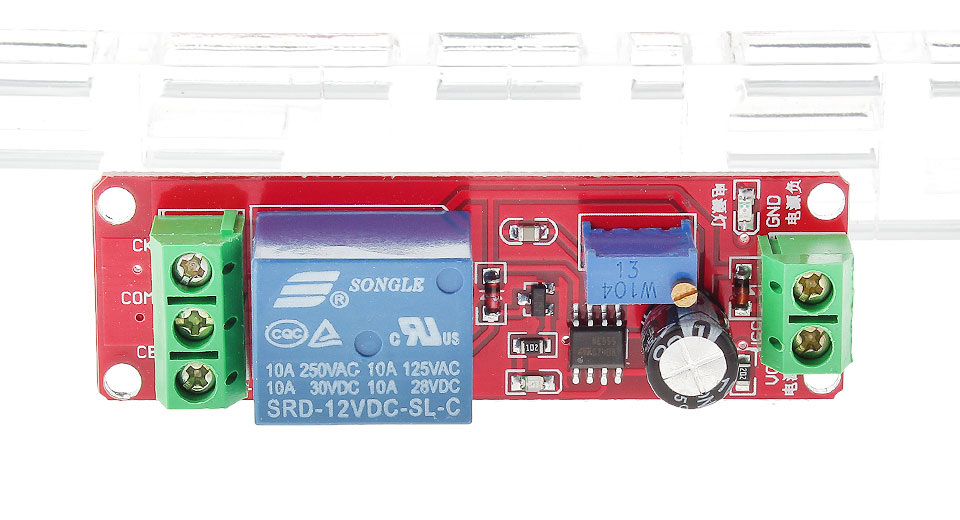 Image of 12V NE555 Power-On Time Delay Switch Module Board