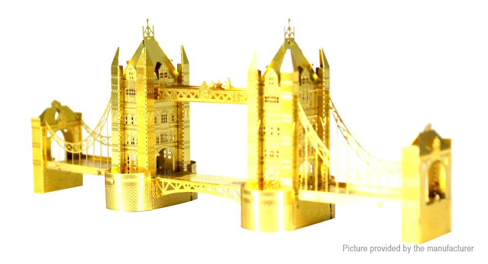London Tower Bridge 3D Metallic Puzzle Jigsaw Educational Toy