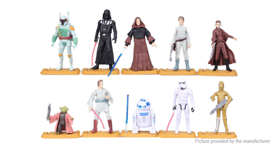 Star Wars The Force Awakens Figure Doll Toy Set (10-Piece Set)