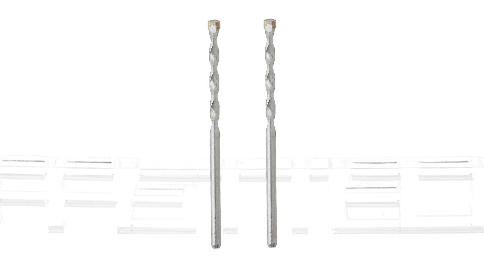 4mm Alloy Twisted Drill Bit (2-Pack)