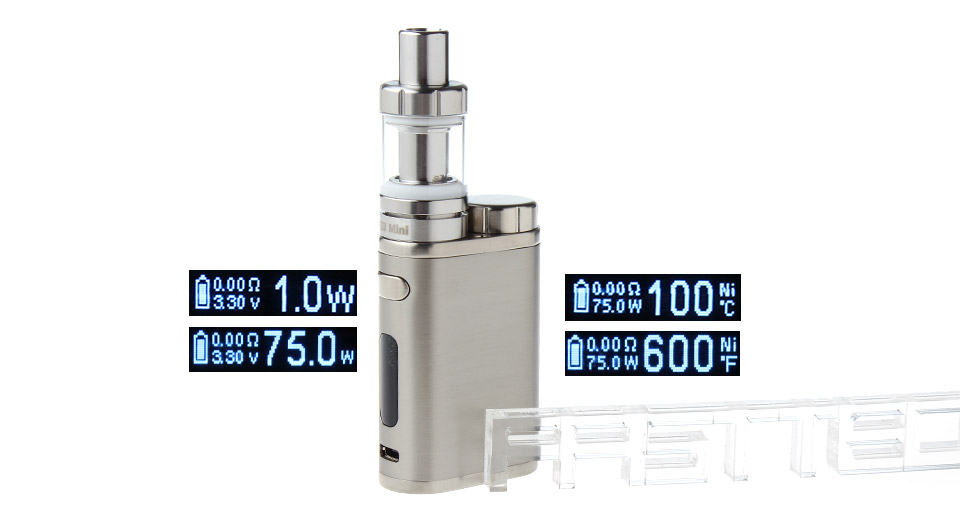 Authentic Eleaf iStick Pico 75W TC VW APV Mod w/ MELO III Mini Clearomizer Kit, w/ MELO III Mini Clearomizer, SS Color