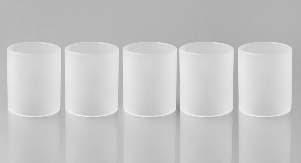 Replacement Glass Tank for Griffin 25 RTA Atomizers (5-Pack) Griffin 25, Tank, Glass, Trans., matte, 5-Pack