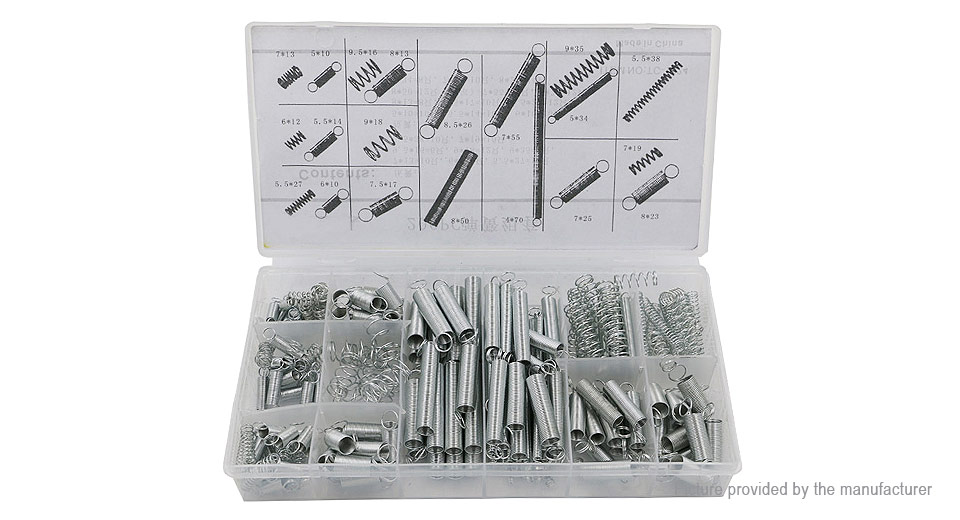 Extended and Compressed Spring Assortment Kit (200 Pieces)