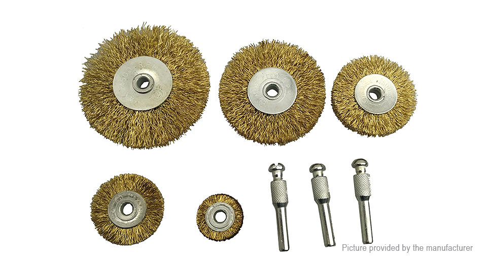 Stainless Steel Grinding Wire Wheel Brush Polishing Tool Set (8 Pieces)
