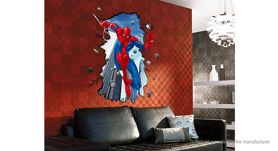 3D The Amazing Spiderman Styled Wall Sticker Decoration Decal