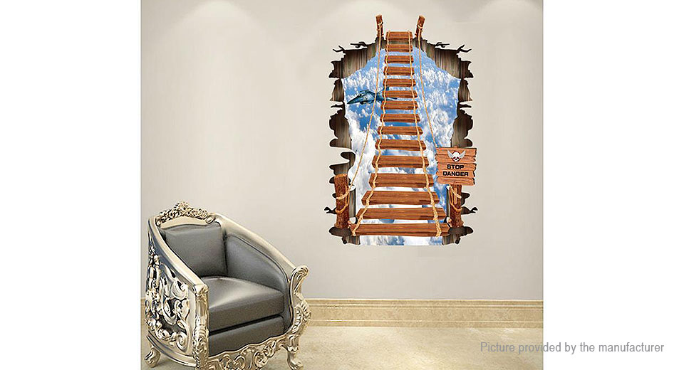 3D Ladder to the Sky Styled Wall Sticker Decoration Decal