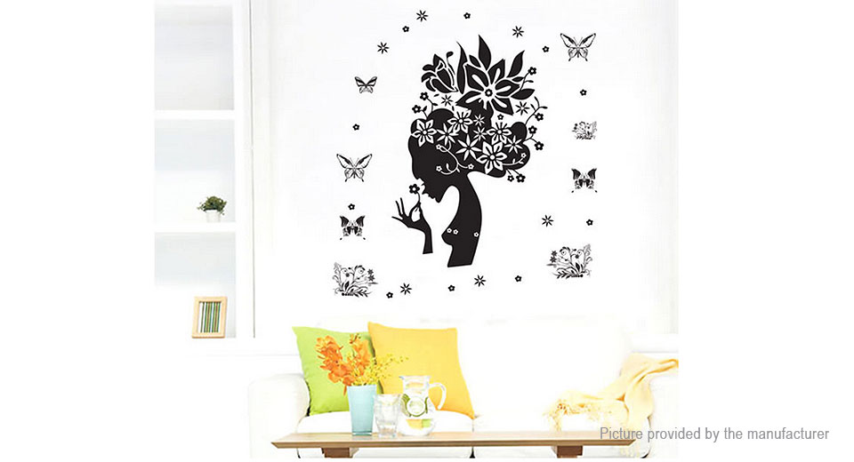 Flower Fairy Styled Wall Sticker Decoration Decal