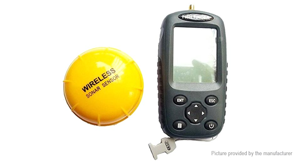 "Image of 2.5"" LCD Portable Sonar Echo Sounder Wireless Fish Finder"