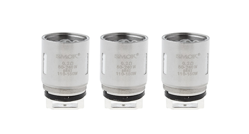 Image of Authentic Smoktech TFV8 Clearomizer Replacement V8-T6 Coil Head (3-Pack)
