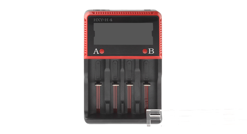 "Image of 2.3"" LCD Quad-Slot Li-ion/Ni-MH/Ni-Cd Battery Charger"
