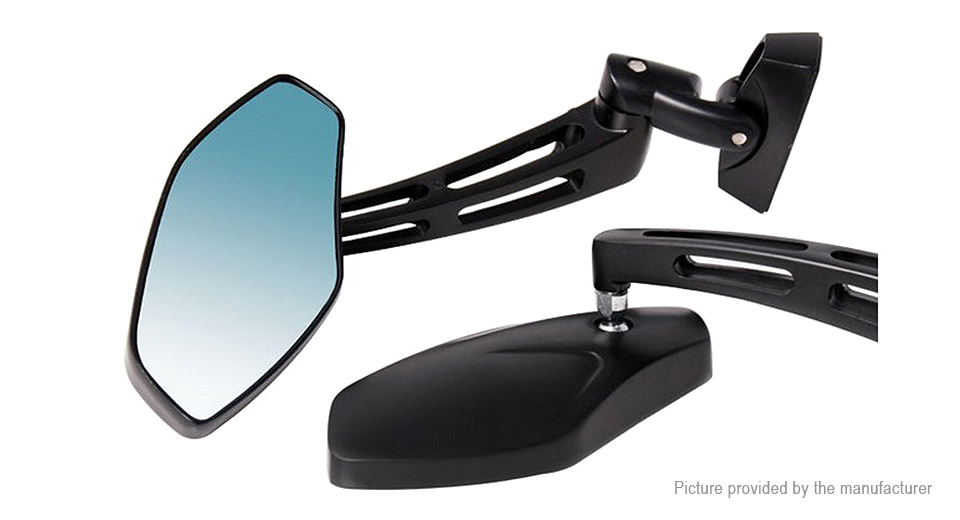 Universal Motorcycle Handlebar Rear View Mirror (Pair)