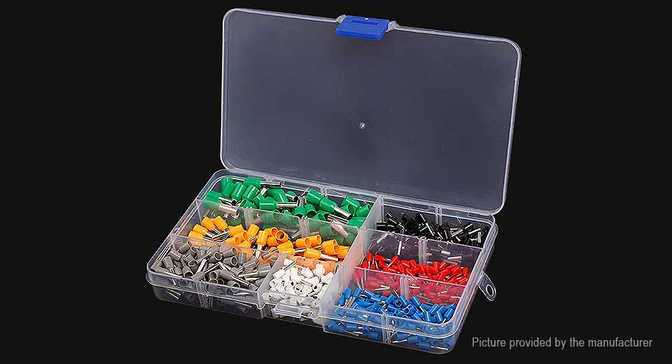 Insulated Ferrule Crimp Connector Terminal Set (600 Pieces)