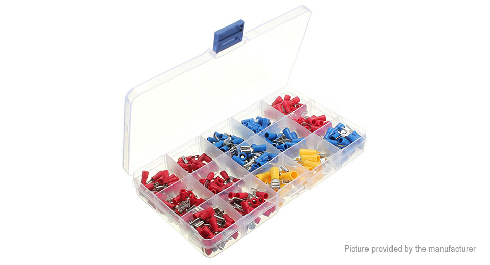 Insulated Disconnect Crimp Connector Terminal Set (280 Pieces)