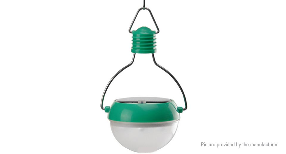 Solar Powered LED Hanging Camping Emergency Light