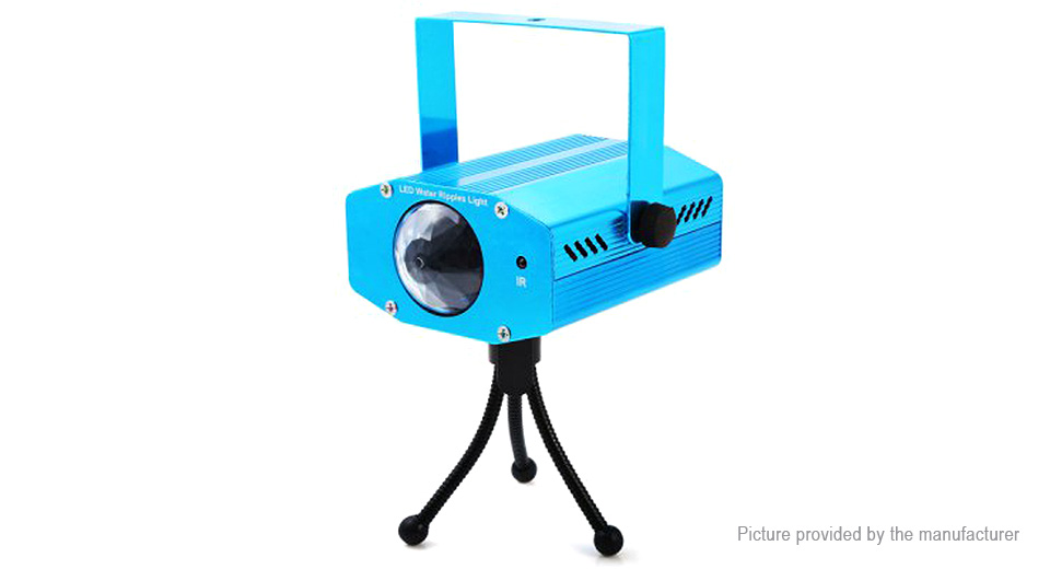 3W 3*LED 600LM 7 Color LED Water Ripple Light Stage Lighting Projector
