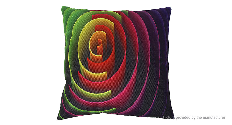 Abstract Style Linen Square Decorative Throw Pillowcase