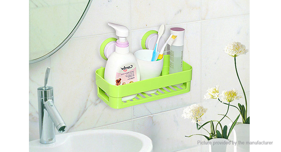 Bathroom Wall Suction Storage Rack Shelf