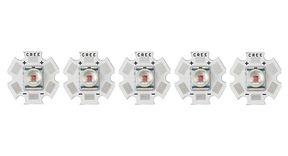 Cree XR-E R2-P2 251LM 620-630nm LED Emitter (5-Pack)