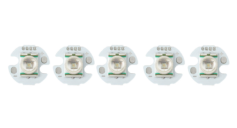 Cree XR-E G2-P 251LM 520-525nm LED Emitter (5-Pack)