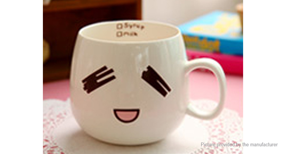 Creative Cute Expression Ceramic Cup Face Mug Tea Coffee Milk Cup (320ml)