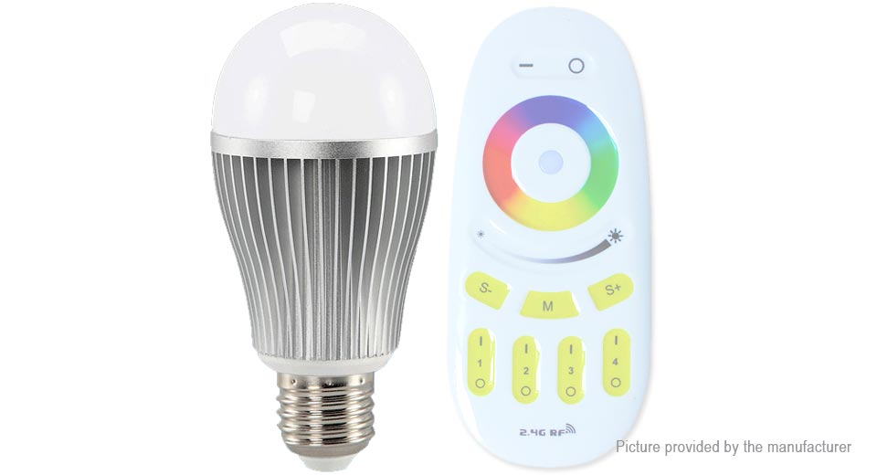 E27 9W 2.4GHz Wireless Multicolor Smart LED Light Bulb