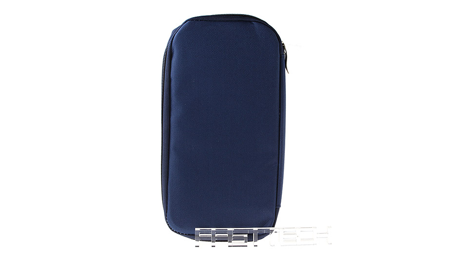 RSD Multi-functional Travel Passport Credit ID Card Holder Pocket Bag, Dark Blue