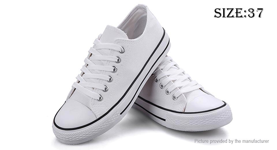 26 43 s lace up low top canvas shoes sneakers size
