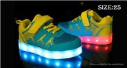 Buy Children Kids LED Light Sneakers Sports Shoes (Size 25/Yellow + Green) Size 25, Yellow Green