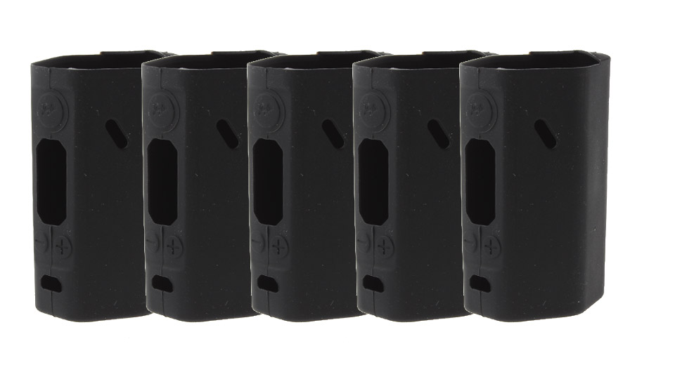Protective Silicone Sleeve Case for Wismec Reuleaux RX200S 200W Mod (5-Pack) RX200S, Silicone, Black, 5-Pack