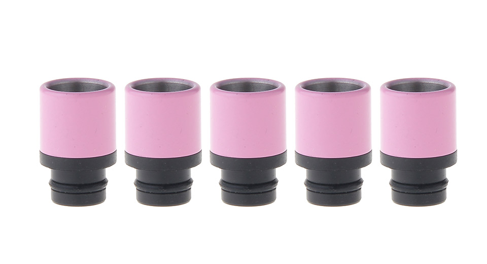 Image of 303 Stainless Steel + POM Hybrid 510 Drip Tip (5-Pack)