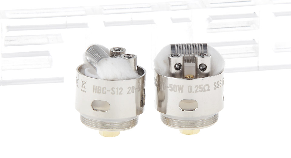 Image of Authentic GeekVape HBC-S12/SSTC Coil Head for Eagle Clearomizer (2-Pack)