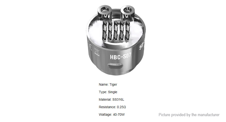 Image of Authentic GeekVape HBC-S07 Coil Head for Eagle Clearomizer (2-Pack)