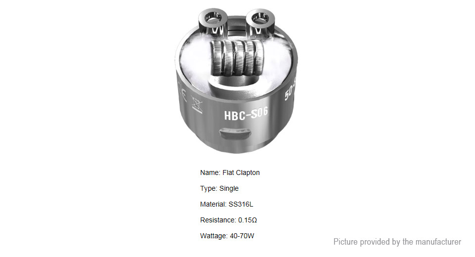 Image of Authentic GeekVape HBC-S06/SSTC Coil Head for Eagle Clearomizer (2-Pack)