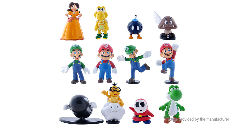 Super Mario Action Figure Doll Toy Set (12-Piece)