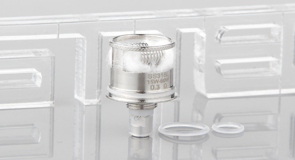 Image of Authentic Steam Crave Aromamizer RDTA OCC SS Dual Coil Head