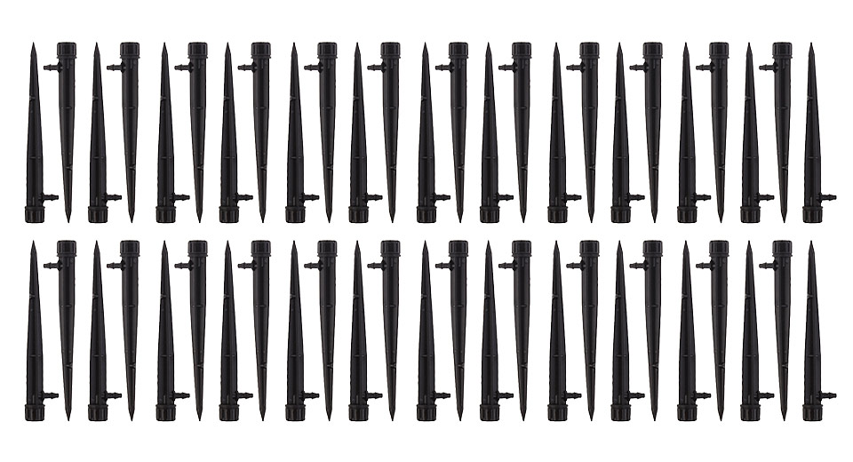 Image of 8 Outlets Drip Adjustable Flow Inserted Dripper Micro Sprinkler (50-Pack)