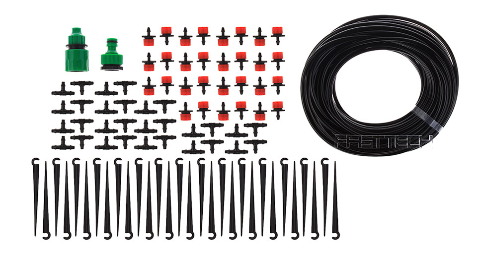 Image of 25m 82ft Micro Drop Irrigation System Atomization Micro Sprinkler Cooling Suite