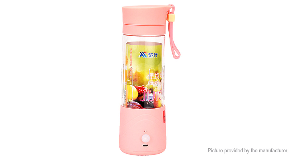 Portable USB Rechargeable Juice Blender Extractor (380ml)