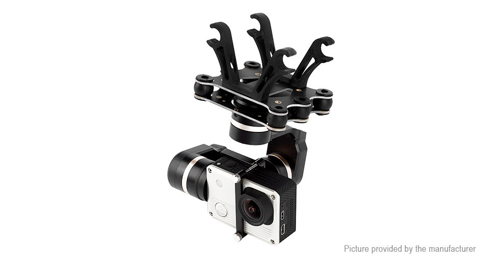 Authentic Feiyu Tech Mini 3D 3-Axis Aircraft Gimbal for GoPro & More