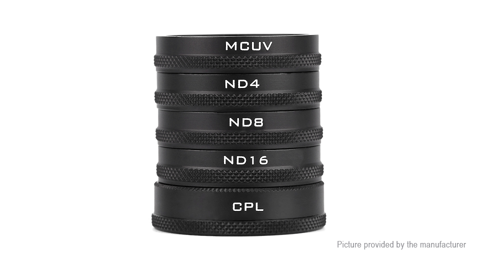 PGY MC-UV / ND4 / ND8 / ND16 / CPL Camera Lens Filter for DJI Phantom 4/3 (5 Pieces)
