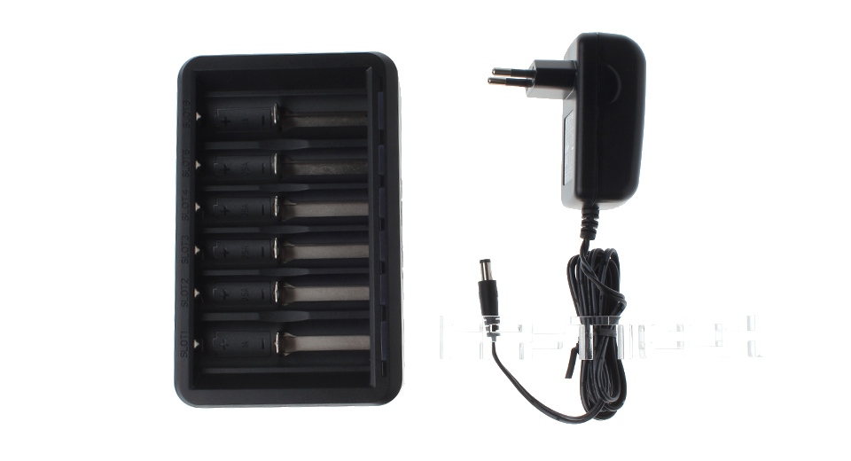 Authentic E.SYB S6 6-Slot Intelligent Battery Charger