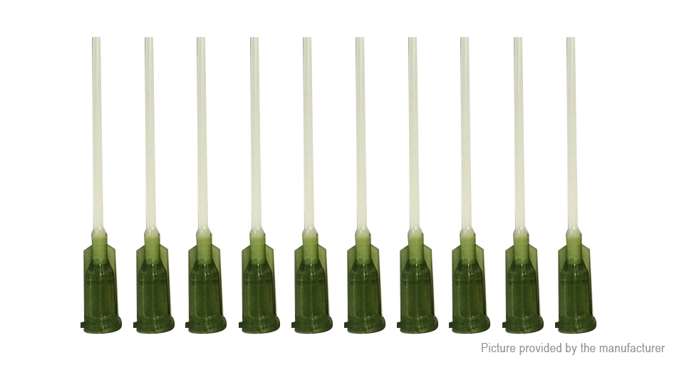 14G 38mm Plastic Pinhead Dispensing Refilling Needle (10-Pack)