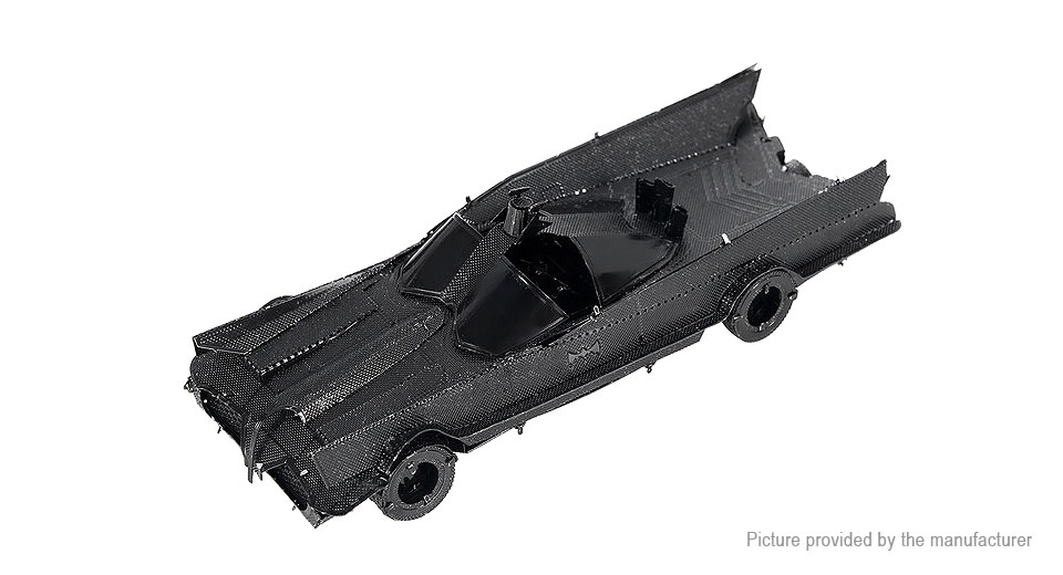 Classic TV Series Batmobile 3D Metallic Puzzle Jigsaw Educational Toy