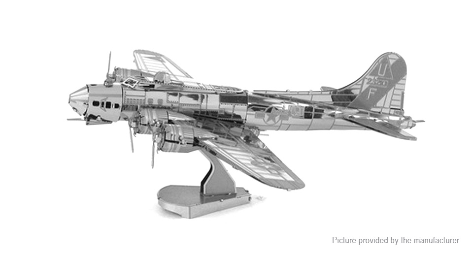 Image of B17 Bomber 3D Metallic Puzzle Jigsaw Educational Toy