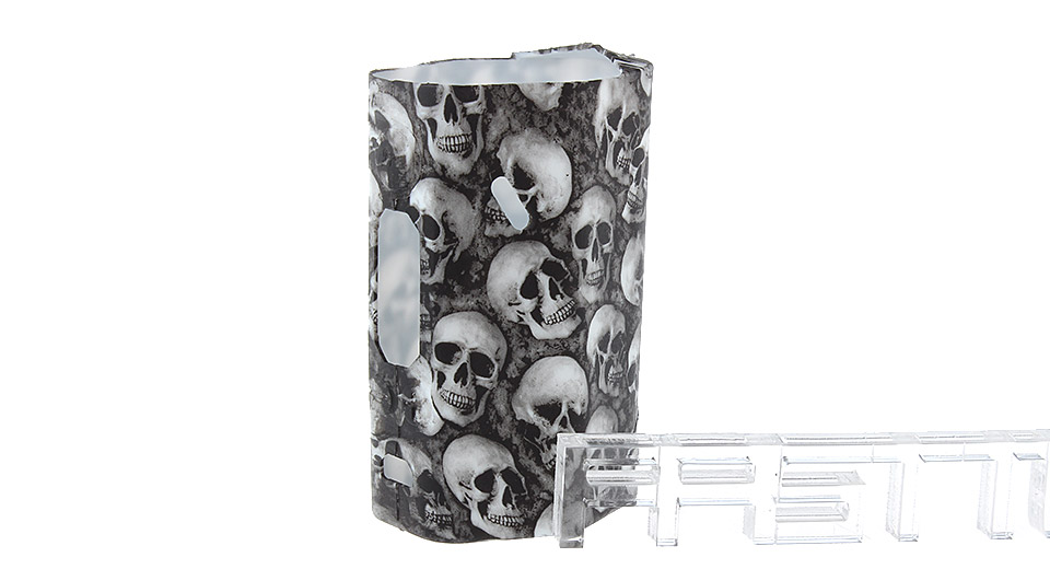 Protective Silicone Sleeve Case for Wismec Reuleaux RX200S 200W Mod RX200S, Silicone, White, skull